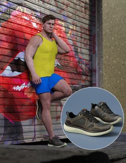 S3D Casual Sneakers for Genesis 8 Male(s)