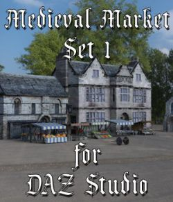 Medieval Market 1 for DAZ Studio