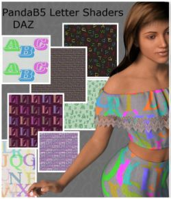 PandaB5 Letter Shaders for Daz Studio