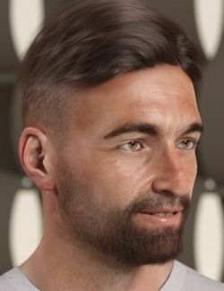 Short Fade Hair for Genesis 3 and 8 Female(s) and Male(s)