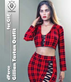 JMR dForce Gillian Tartan Outfit for G8F
