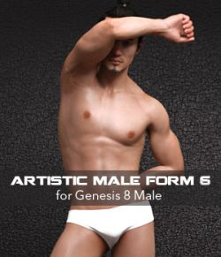 Artistic Male Form 6 for Genesis 8 Male