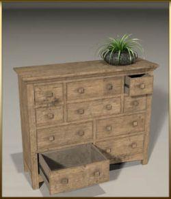 Vintage Furniture : Long Tall Dresser for Poser