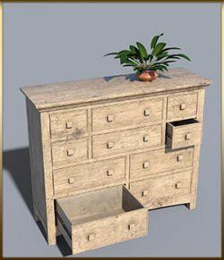 Vintage Furniture : Long Tall Dresser for DS