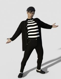 dForce Jailhouse Rock Outfit for Genesis 8 Male