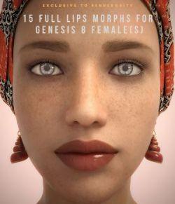 15 Full Lips Morphs G8F- Merchant Resource