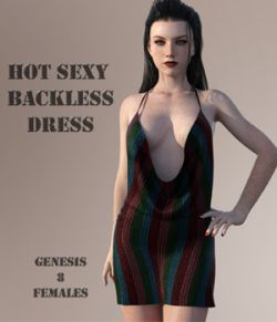 Hot Sexy Backless Dress For G8F