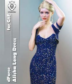 JMR dForce Alisha Long Dress for G8F