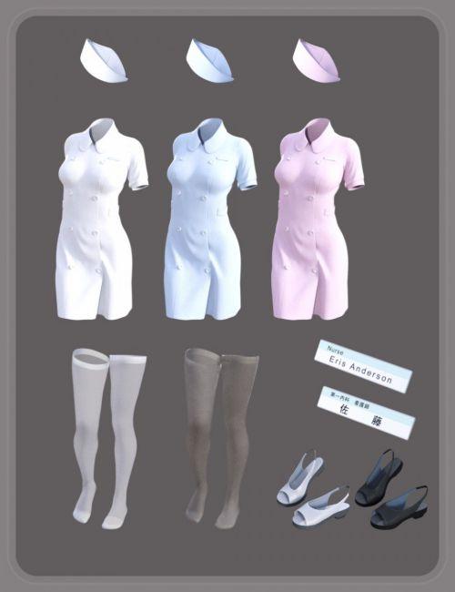 dForce Nurse Uniform for Genesis 8 Female(s)