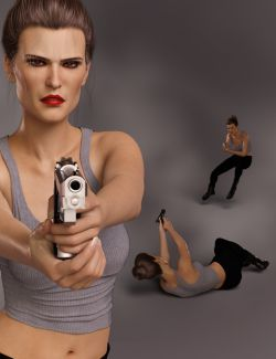 Spy Girl Poses and Expressions for Josephene 8 and Genesis 8 Female