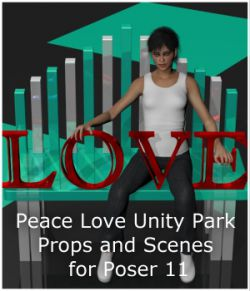 Peace Love Unity Park for Poser 11