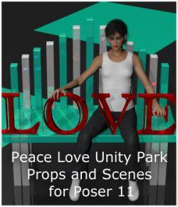 Peace Love Unity Park for Poser 11