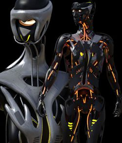 CyBody - Cyborg Internal Structure and Materials for Genesis 8 Male