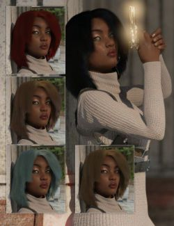 dForce Operator Hair for Genesis 8 Female(s)