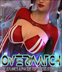 Overwatch for Alpha Suit for Genesis 8 Females