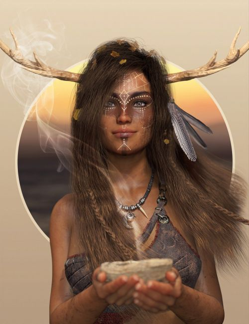 Deer Lady Hair for Genesis 3 and 8 Female(s)
