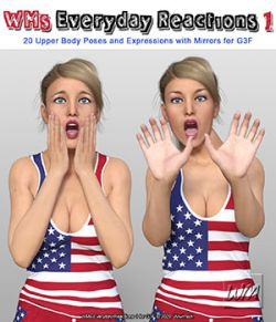 WMs Everyday Reactions Pack 1 for G3F