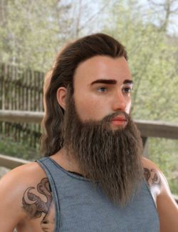 Ryanno Hair and Beard Set for Genesis 8 Male