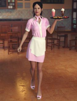 dForce Diner Uniform for Genesis 8 Female(s)