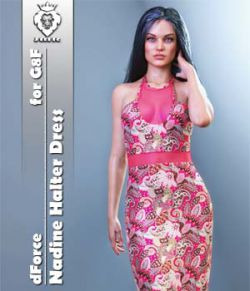 JMR dForce Nadine Halter Dress for G8F