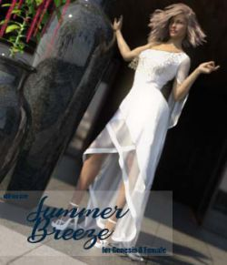 dForce Summer Breeze Dress for Genesis 8 Female