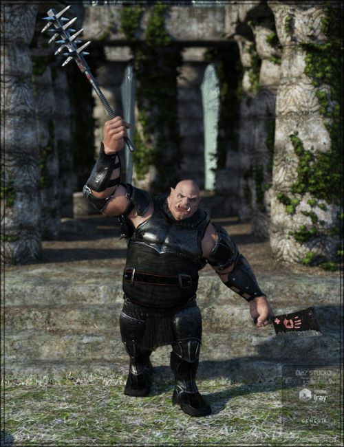 Darkside Weapons for Genesis 8 Male(s) and Ogre HD