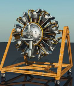 MS20 Wright Cyclone 9 Radial Engine for Vue 9