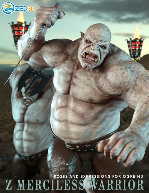 Z Merciless Warrior Poses and Expressions for Ogre HD