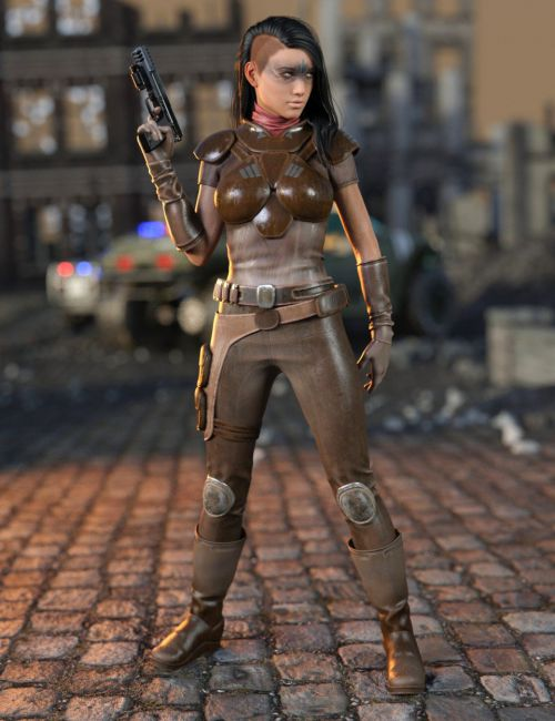 Sci-Fi Raider Outfit for Genesis 8 Female(s)