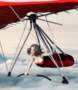 GS Hang glider for Daz Studio