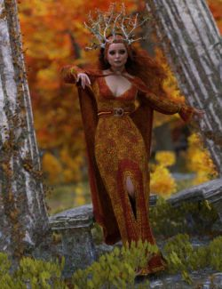 dForce Seasons Maiden Outfit for Genesis 8 Female
