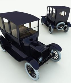 1920 Model T Center Door for Poser