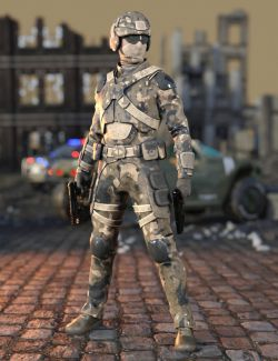 Assault Soldier Outfit for Genesis 8 Male(s)