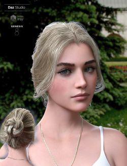 Aurelia Bun Hair for Genesis 8 Female(s)