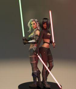 Aegis Sword for Genesis 3 & 8 Females