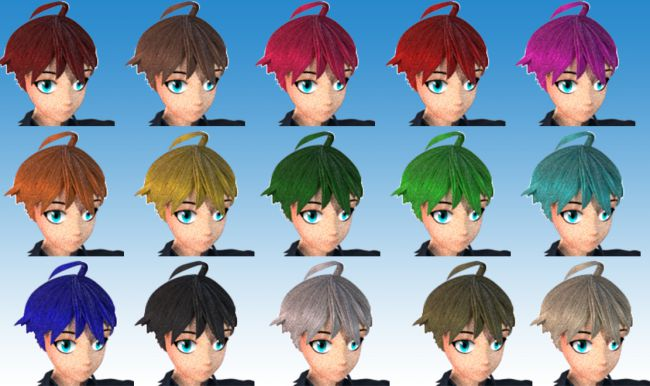 Anime Boy Hair For Lafemme Hair For Poser