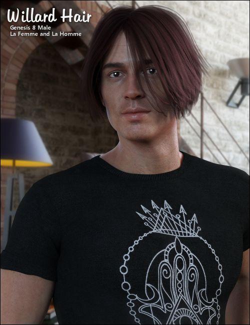Willard Hair for Gen 8 Male, La Homme and La Femme