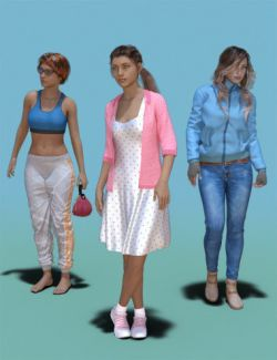 1stB Just Standing Idle Poses for Genesis 8 Female