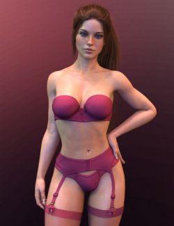 X-Fashion Cute Lingerie for Genesis 8 Female(s)