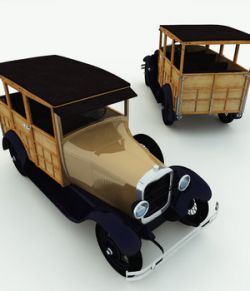 1929 Model 150A Woodie Station Wagon for Poser