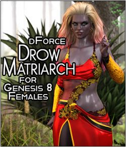 dForce Drow Matriarch for Genesis 8 Females