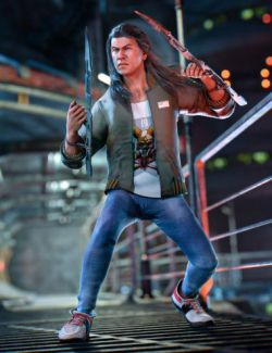 dForce Street Blade Outfit for Genesis 8 Male(s)