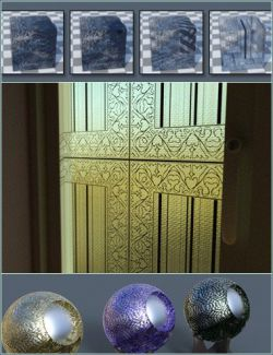 Squared Nouveau Glass Iray Shaders