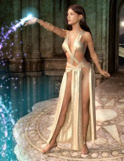 dForce Priestess of Light Outift for Genesis 8 Female(s)
