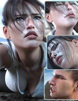 Z Mix and Match Hurt and Injured Expressions for Genesis 8