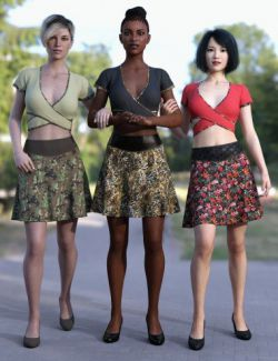 dForce Divergent Material Textures for Brazen Charm Outfit