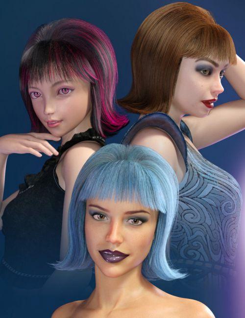 Betty dForce Hair for Genesis 8 Female