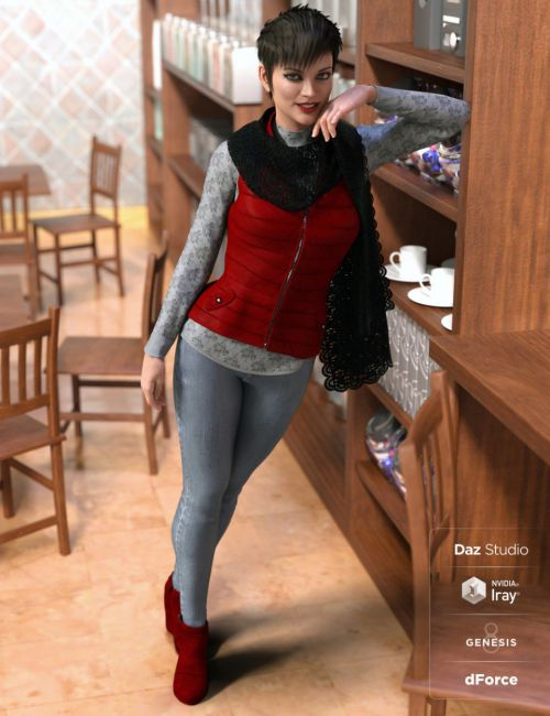 dForce Latte Mornings Outfit for Genesis 8 Female(s)