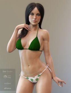 X-Fashion Trendy Simple Bikini for Genesis 8 Female(s)