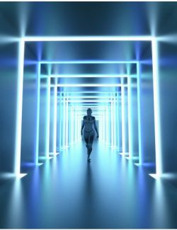 Neon Light Corridor